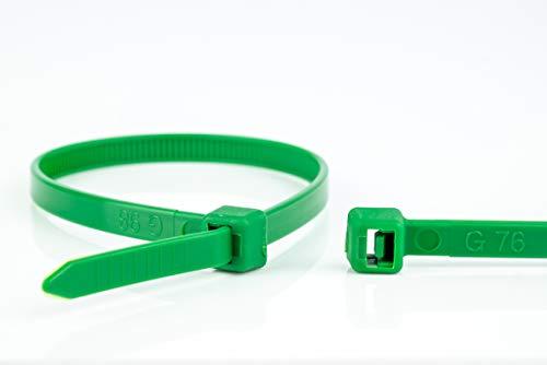 WKK Kabelbinder grün, 200x4,8mm, 100 Stück