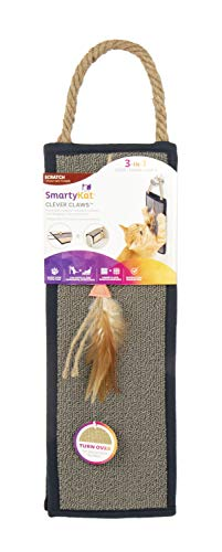SmartyKat Clever Claws Hanging Or Mat Cat Scratcher, Brown and Grey,Large