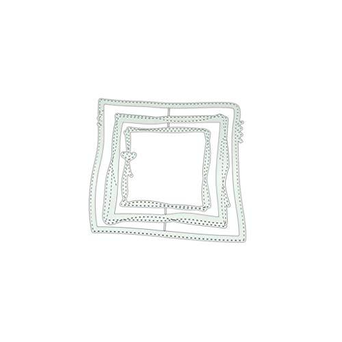 GuanjunLI 1 Set Handwerk Schneide Formen Unregelmäßige Box Metall Stanzschablone DIY Scrapbooking Album Stempel Papier Karte Prägung Basteln Dekorieren