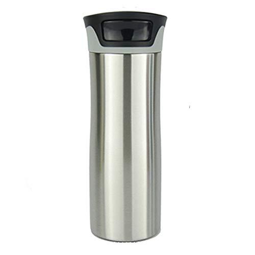 Autoseal Edelstahl-Thermobecher, Vakuumisoliert, auslaufsicherer Becher, hält Getränke heiß und kalt, 500 ml (16 oz) (Stahl)