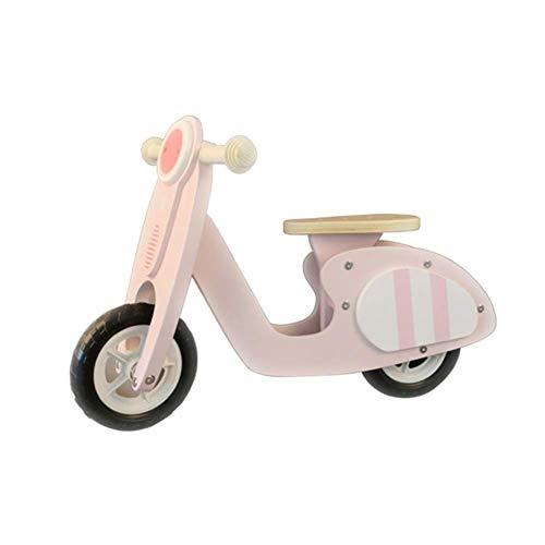 Stunt scooter pieghevole Monopattino, bambino Equilibrio Giocattolo di legno della ragazza di bambino Walkers Yo-yo Scooter carrozzino di bambino Balance Bikes trucco salto di spinta (Colore: Rosa) 8b