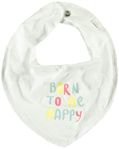 NAME IT★ Pañuelo triangular para bebé de algodón, varios diseños ... To Be Happy blanco. talla única/0- 2.5 años