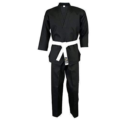 Playwell Karate Niños Negro Cuello V Pulóver Uniforme - 00/120cm