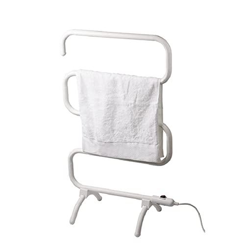 Radiador para toallas con calefacción, calentador de toallas eléctrico de pie, 5...