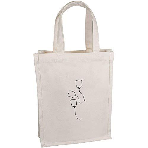 Azeeda 'Teebeutel' Kleine Premium Canvas Einkaufstasche (BG00041789)