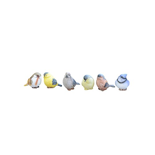 OUNONA 6 piezas de resina p/ájaros animales manualidades artes miniatura figura decorativa hogar jard/ín adorno