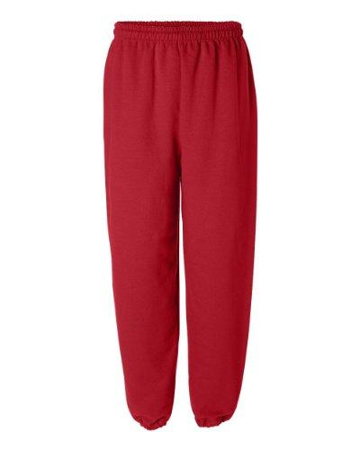Gildan 18200 Heavy Blend Sweatpants, Red, Size Small