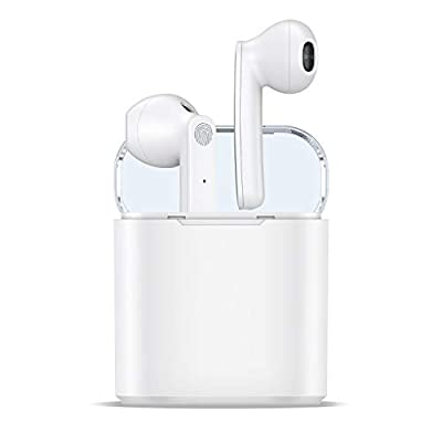 Wireless Earbuds, Bluetooth 5.0 Headphones Wireless Earbuds 35H Cycle Playtime in-Ear Wireless Headphones Hi-Fi Stereo Sweatproof Earphones Sport Headsets Built-in Mic for Work/Running/Travel/Gym from GOUTOU
