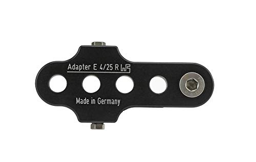 Brand Kurbelarmverkürzer FA E 4/25 Rechts extra breit für E-Bikes und Pedelecs bei Knie-Behinderung, Farbe:Schwarz