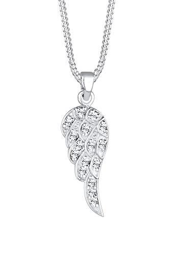 Elli Halskette Damen Flügel Anhänger Boho mit Kristalle aus 925 Sterling Silber
