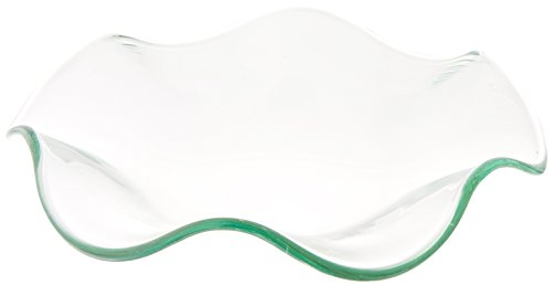 StealStreet MG Wavy Replacement Glass Dish for Electric Oil Aromatherapy Burner