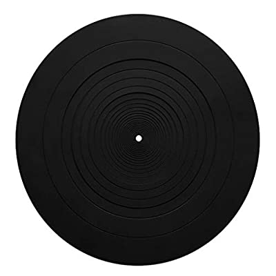 JumpXL Silicone Pad Rubber LP Antislip Mat Durable Anti-Static Anti-vibration for Phonograph Turntable Vinyl Record Players Accessories