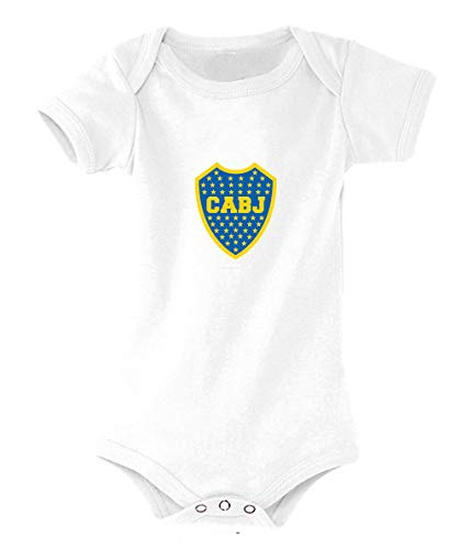 Boca Juniors Body Camiseta unisex para niños, Unisex niños, Camiseta, 5060672800068, blanco, FR : L (Taille Fabricant : 12-18 mois)