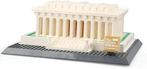 TXXM Conjunto de construcción Lincoln Memorial Modelo Bloques de construcción DIY Construcción Creativa Ladrillos Nano Bloques de Construcción Set Juguete Educativo Regalos para Adolescentes y Adultos