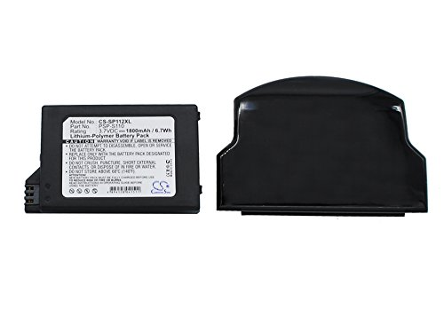PSP-S110 Replacement Battery for Sony PSP-2000, PSP-3000, PSP-3004, PSP 2th, Silm & Lite, (1800mAh High Capacity PSP-S110 Battery with Extended Cover)