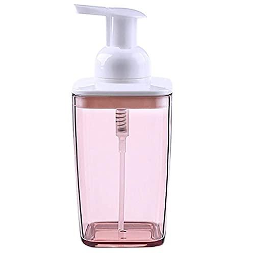 MUMUMI Bomba de Dispensador de Jabón, Dispensador de Jabón Espuma de Espuma de Mano Dispensador de Espuma de Plástico Dispensador de Jabón Plástico Y Recargable Y Ecológico,Rosa