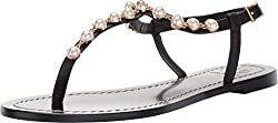 Perfect Black Emmy Pearl Flat Sandal