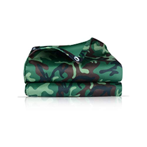 Jonist Camouflage Tarpaulin Waterproof Heavy Duty Army Tent Fishing Camping Tarp Emergency Shelter, 4 Colors, 14 Sizes (Color : A, Size : 3X3.0M)