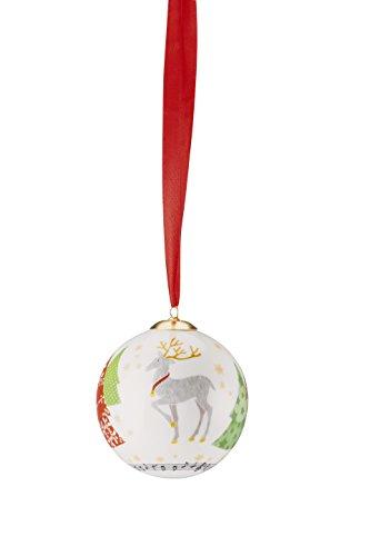 Hutschenreuther Sammelserie Weihnachtslieder-O Tannenbaum groß/Ø 8 cm Porzellankugel, Porzellan, Bunt, 9 x 9 x 10 cm
