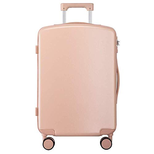 XKstyle Rolling Suitcase Trolley Suitcase With Hard Mute Wheel ABS PC Laptop Suitcase 24 Inches (size: 24 Inches) (Color : Dogwood Pink, Size : 24 inch)