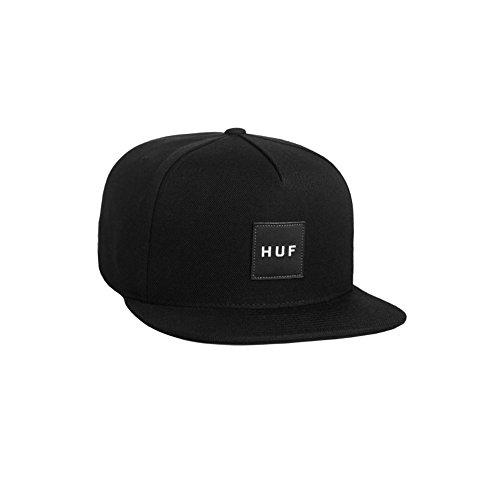 (ハフ) HUF ESSENTIALS BOX SNAPBACK CAP (FREE SIZE, BLACK) [並行輸入品]