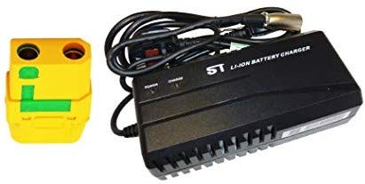 Cargador inteligente de batería de litio, 48 V/54,6 V 2,5 A, para bicicletas eléctricas, scooters, sillas de ruedas y mucho más. (XT90)