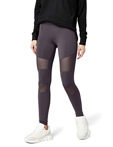 Urban s Damen Ladies Tech Mesh  Skinny Leggings,  Grau (Dark Grey 00432),  W(Herstellungsgröße: S)