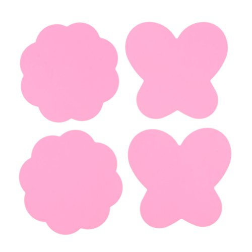 Sharplace 4pcs Nail Art Coupelle 3,54 x 3,54 pouces Pour Peinture Couleur Palette De Mélange - Rose 2, 9 x 9 cm