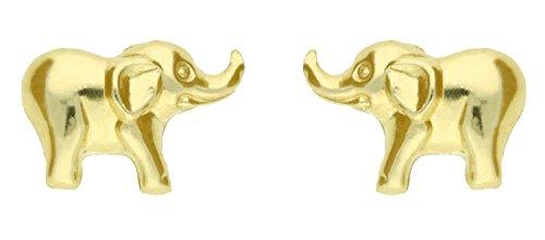 Adara 9 ct Gold Elephant Earrings