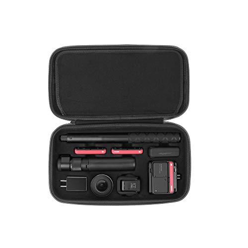 HSKB - Bolsa de mano para cámara de acción Insta 360 ONE R, de nailon, portátil, impermeable, maletín de transporte