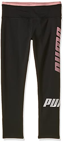 PUMA Modern Sport Leggings G Mallas Deporte, Niñas, (Puma Black/Bridal Rose) - 4 ans (Talla Fabricante: 104)