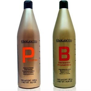 Salerm Protein Shampoo and Balsamo Conditioner Combo Set