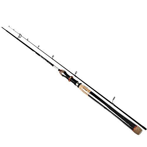 HPPSLT Caña de Pescar Señuelo de Carbono caña de Pescar 5 Colores 2 Sección señuelo Peso 2-40g Spinning caña de Pescar del Recorrido de Rod-2-8g_2.7m Caña de Pescar (Color : 10-30g, Size : 2.4m)