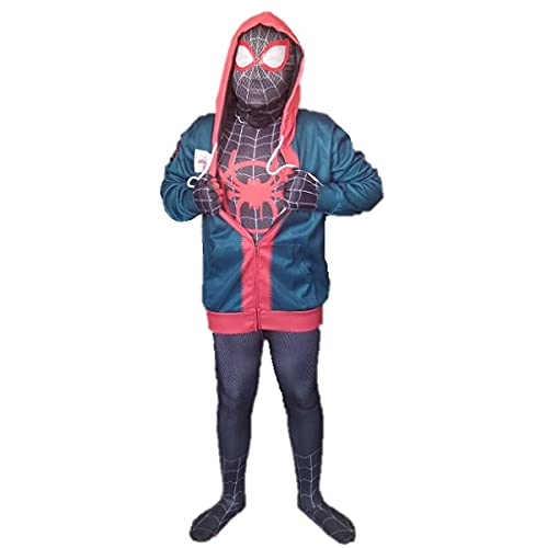 Cosplay Miles Morales Homem Aranha no Aranhaverso Kit Adulto TS Rock Heroes (Asian XL (170-180 cm))