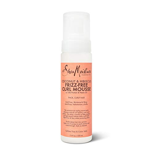 SheaMoisture Curl Mousse for Frizz Control Coconut and Hibiscus with Shea Butter 7.5 oz