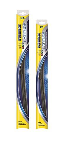 """Rain-X 810198 Latitude Water Repellency Wiper Blade Combo Pack 24"""" and 21"""""""