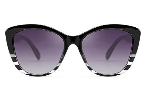 FEISEDY Gafas de Sol Mujer Polarizadas Clásico Gafas de Sol Ojos de Gato con Lentes de Protectora 100% UV400 para Mujer y Hombre B2451