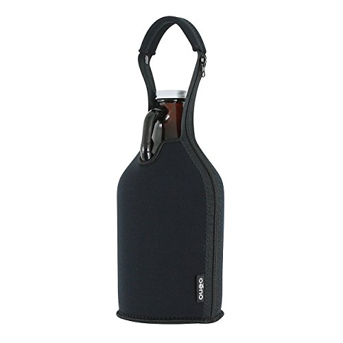 Insulated Neoprene Growler Carrier, 64 Ounce Growler With Handle