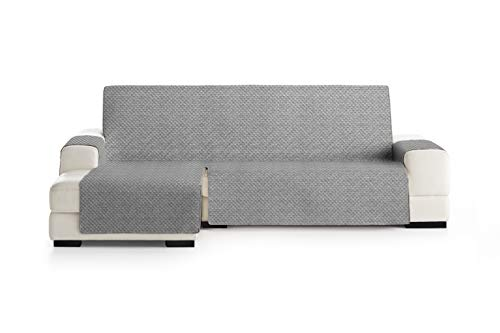 Eysa Mist Salva, Microfiber, C/6 Grigio, Penisola 240 cm. Adatto per divani da 250 a 300 cm