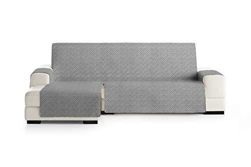 Eysa Mist Salva, Microfiber, C/6 Grigio, Penisola 290 cm. Adatto per divani da 300 a 350cm
