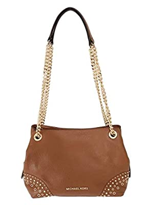 Michael Kors Jet Set Medium Chain Messenger Leather Shoulder Bag Luggage