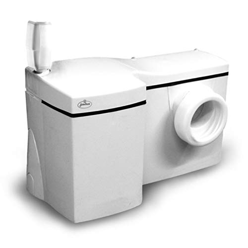 Jimten Ciclon L T-604 Triturador sanitario (6m altura 4 aparatos), Blanco