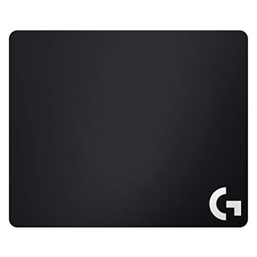 Logitech G640 Gaming Mauspad aus Stoff, 460x400 mm, 3mm flaches Profil, Geringe Oberflächenreibung, Gleichmäßige Oberflächenstruktur, Gummiunterlage, Zusammenrollbar - Englische Verpackung