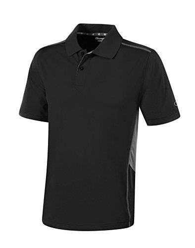 Prime Double Dry Polo: Black/Stone Gray, XL