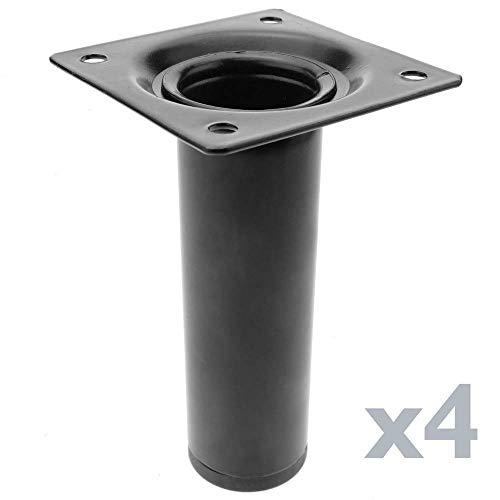 Base 70x60mm // 2.76x2.3inch 10cm Plata Juego De 4 Patas De Repuesto De Aluminio Para Patas Cuadradas De Muebles