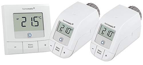 Homematic IP Erweiterungsset mit zwei Heizkörperthermostaten (Basic) und einem Wandthermostat