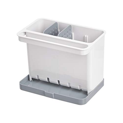 AmazonBasics - Organizador para el fregadero y recipiente para estropajos