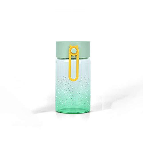 KONFA Glasgetränkeflaschen Borosilicatglas Wasser-Schalen-Leak Proof Flaschen Entsaften Container Hitzebeständige Flaschen (Random Color 320Ml),A