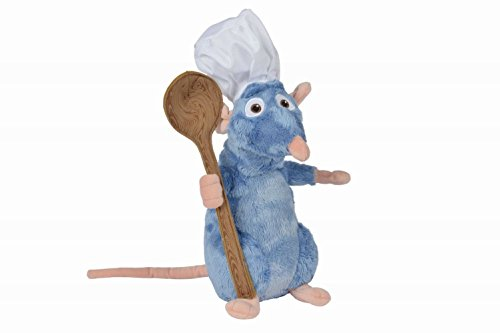 Disney-Pixar 5874986 Plüschtier Ratatouille Remy mit Mütze und Löffel 25 cm