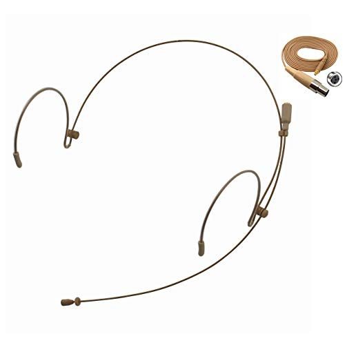 Professional Headset/Headworn Microphone JK MIC-J 071S Compatible with Shure Wireless System - TA4F Microdot Detachable Cable
